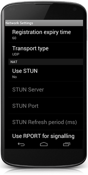 Smart Phone Network Settings